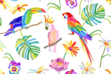 様式化された刺繍のテクスチャです。ビンテージ モチーフ