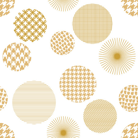 Abstract background with golden ornaments. Oriental textile collection. Illustration