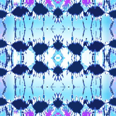 스카프, 드레스, 셔츠, 쿠션에 대 한 그런 지 인쇄입니다. 파란색에서 민족 섬유 컬렉션입니다.