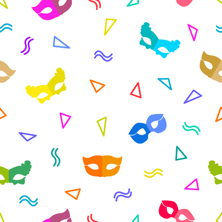 Seamless vector pattern with masks and serpentine.