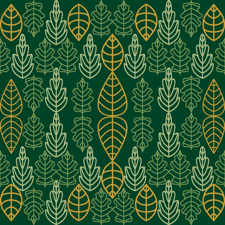 Seamless vector pattern with floral motifs. Ecological concept.