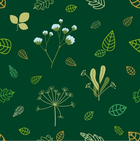 Design for textile, packaging, cards. Ecological concept. Иллюстрация