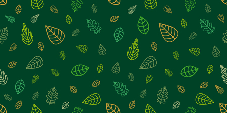 Seamless vector pattern with floral motifs. Design for textile, packaging, cards. Ecological concept.