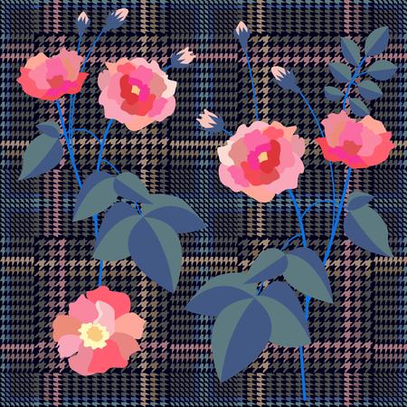 Textile design for school uniform, plaids, scarfs.
