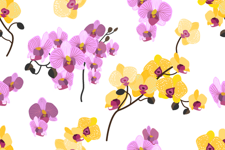 Seamless botanical pattern with aloha motifs. Trendy design for textile, cards and invitations. Ilustrace