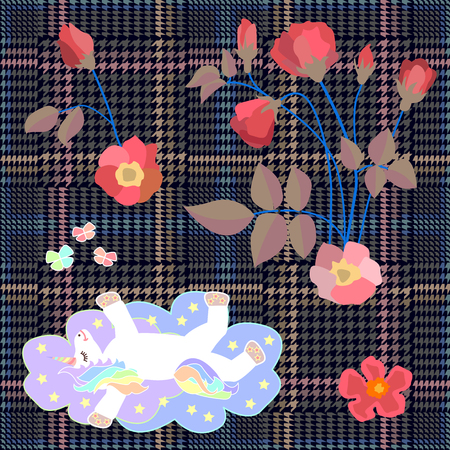 Embroidery design for scarfs, plaids, stationeries and other decorations.