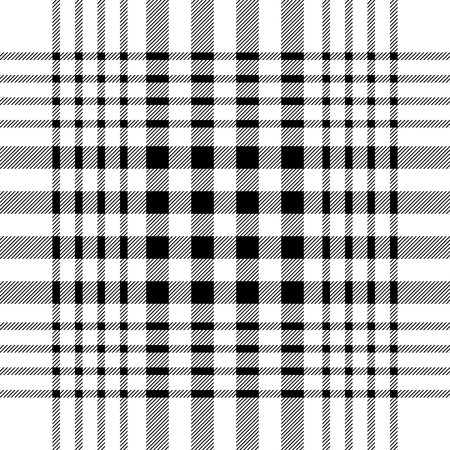 Seamless geometric pattern with small-scale checkers and stripes. Black on white.