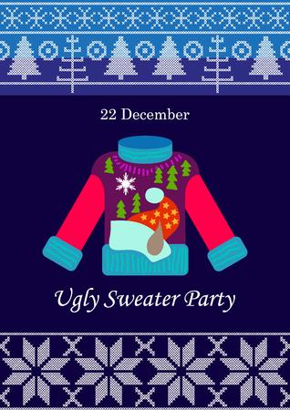 Vorlage für Weihnachtskarten, Einladungen, Banner und Poster.