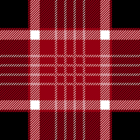 Seamless vector pattern with autumn palette. Classical textile print with checkers and stripes. Template for plaids, shirts, suits, dresses.