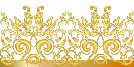 Realistic scrolls, leaves and other decorative elements on  white background. Vintage design collection.