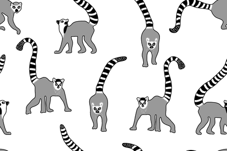 Seamless vector pattern with wild animals and golden chains. Safari textile collection.