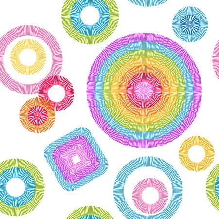 Texture brodée stylisée. Différentes formes géométriques.