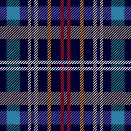 Trendy fabric design with Scandinavian motifs. Template for plaids, shirts, suits, dresses.