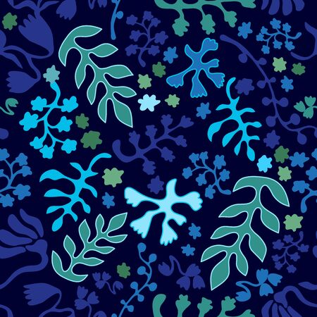 Seamless floral print with Indian motifs.  Vintage textile collection.