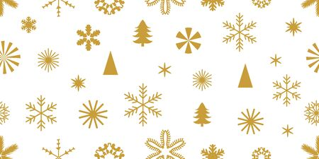 Golden snowflakes with different ornaments. Retro design collection. On white background. Archivio Fotografico - 129490084