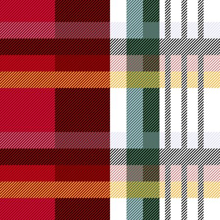 Template for plaids, shirts, scarfs, napkins, table clothes. Ethnic collection. Ilustrace