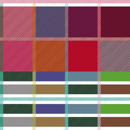 Template for plaids, shirts, scarfs, napkins, tablecloths. Ethnic collection. Иллюстрация