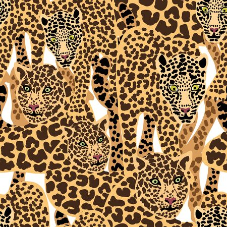 Safari textile collection. Template for scarfs, dresses, cards, gift wrappings.