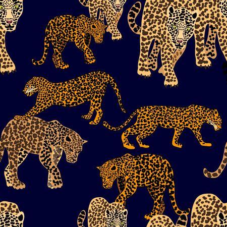Safari textile design collection. On black background. Иллюстрация