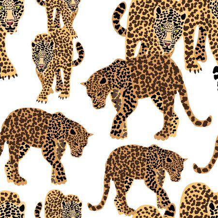 Safari textile design collection. On white background. Иллюстрация