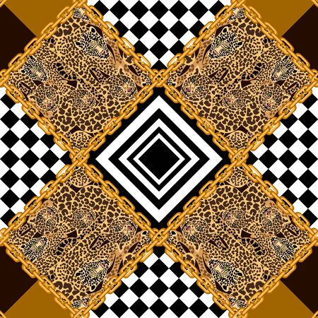 Baroque textile collection. Template for scarves, dresses, cards, covers.