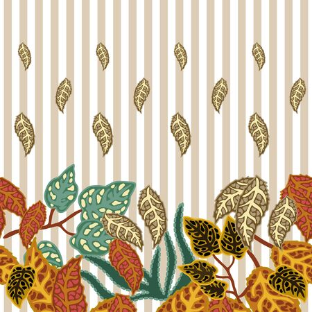 Vintage textile design collection with stripped background.