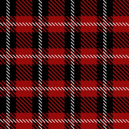 Template for shirts, plaids, scarfs, napkins. Black, red.