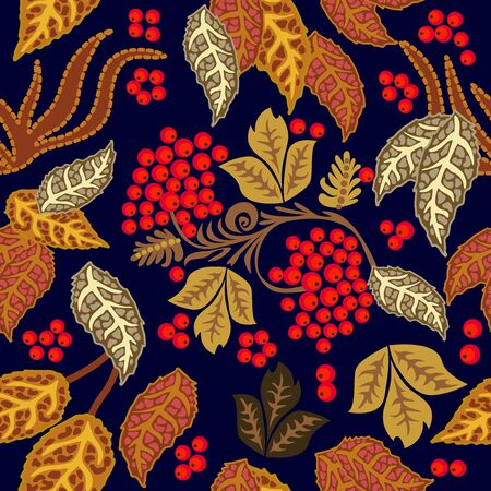 Colorful design with Russian motifs. Template for scarfs, dresses, cards. On black background.