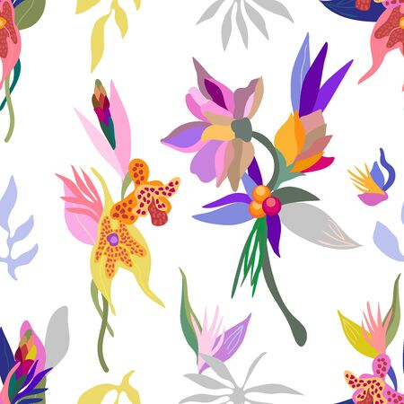 Swimwear textile design collection. On white background.