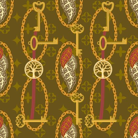 Template for textile design, cards, gift wrappings and wallpaper. On yellow background.