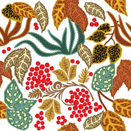 Colorful design with Russian motifs. Template for scarfs, dresses, cards. On white background.