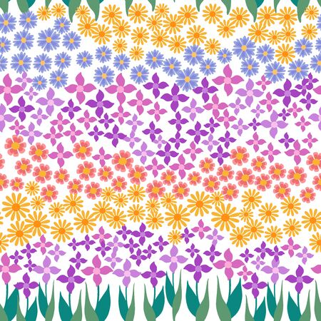Retro textile design collection. On white background.