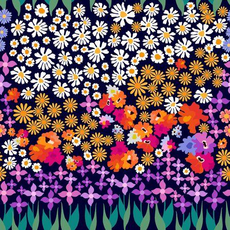 Retro textile design collection. On black background.