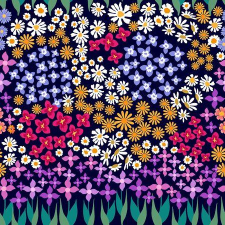 Retro textile design collection. On dark background.