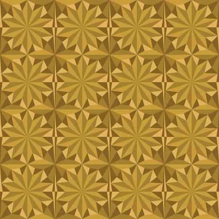 Template for gift wrappings, cards and other festive decorations. On golden background.