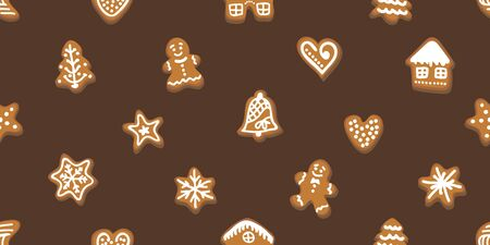 Template for cards and gift wrappings. On brown background.