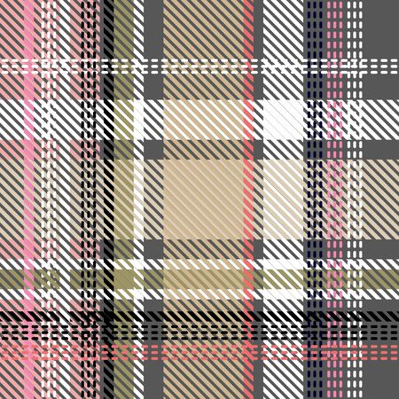 Template for plaids, shirts, napkins, dresses. Beige, grey, pink. 向量圖像