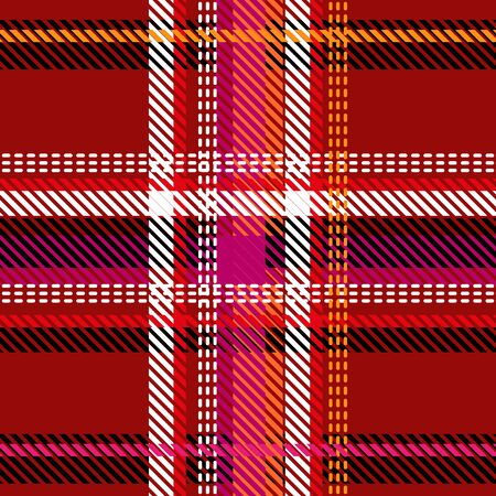 Retro textile design collection. Pink, red, black, white. 일러스트