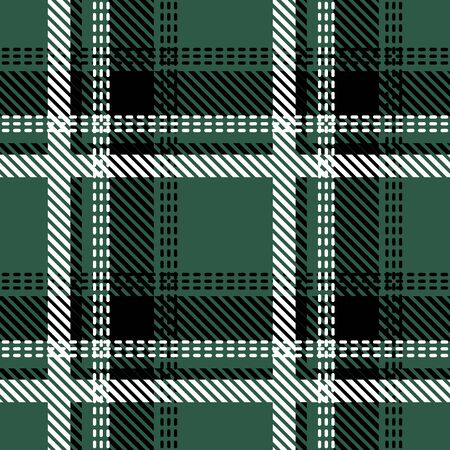 Retro textile design collection. Green, black, white. Vettoriali