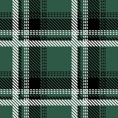 Retro textile design collection. Green, black, white. Illustration