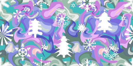 Festive elements and decorations on colorful background. Template for greeting cards and gift wrappings.