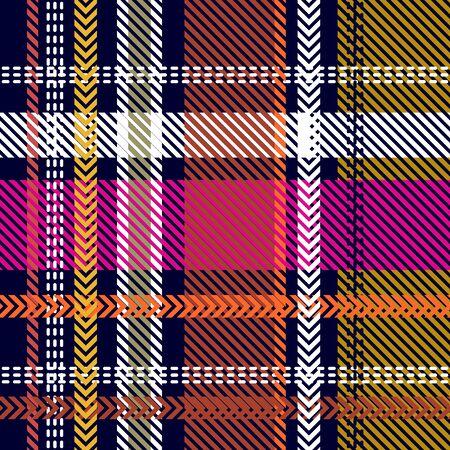 Template for plaids, shirts, napkins, dresses. Black, yellow, pink. Illusztráció