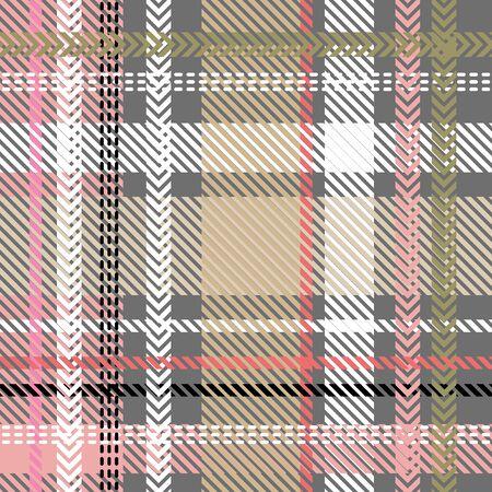 Template for plaids, shirts, napkins, dresses. Beige, grey, pink. Illusztráció