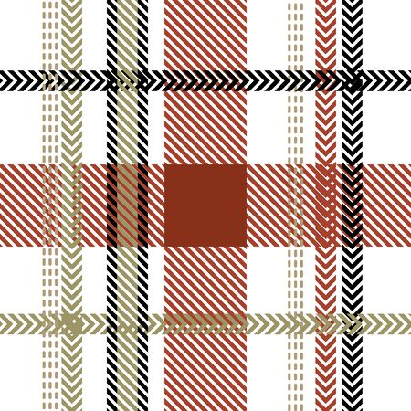 Template for plaids, shirts, napkins, dresses. Black, beige, red.