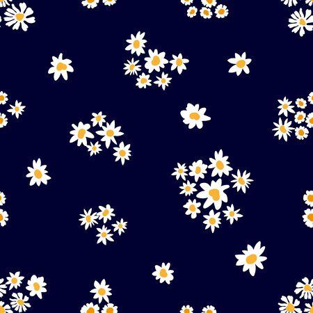 Summer textile design collection. On dark background. Illusztráció