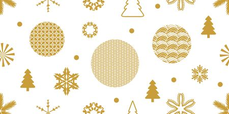 Template for gift wrappings, cards, flyers. Winter design collection. Ilustração