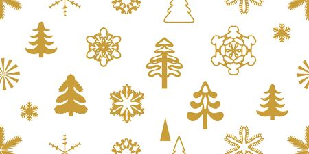 Retro design collection. Golden on white background.