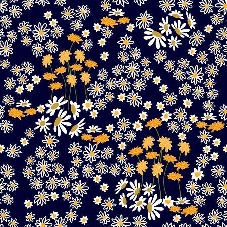 Summer textile design collection. On dark background. Vektorgrafik