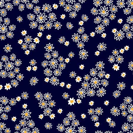 Summer textile design collection. On dark background.