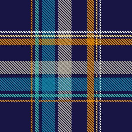 Template for plaids, scarves ond other clothes. Yellow, blue, black.